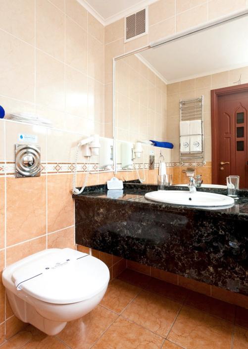 Туалетная комната номера Делюкс в отеле 1001 ночь