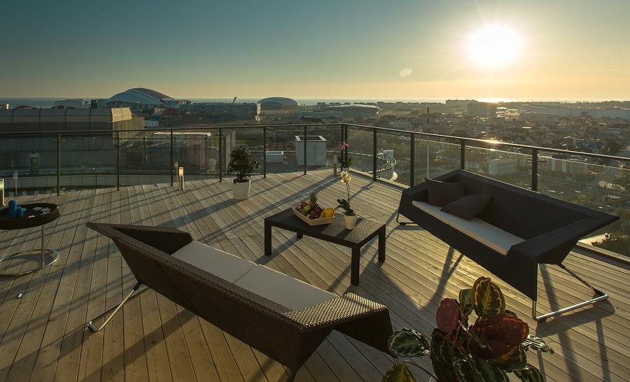 Вид с веранды Adler Hotel & Spa