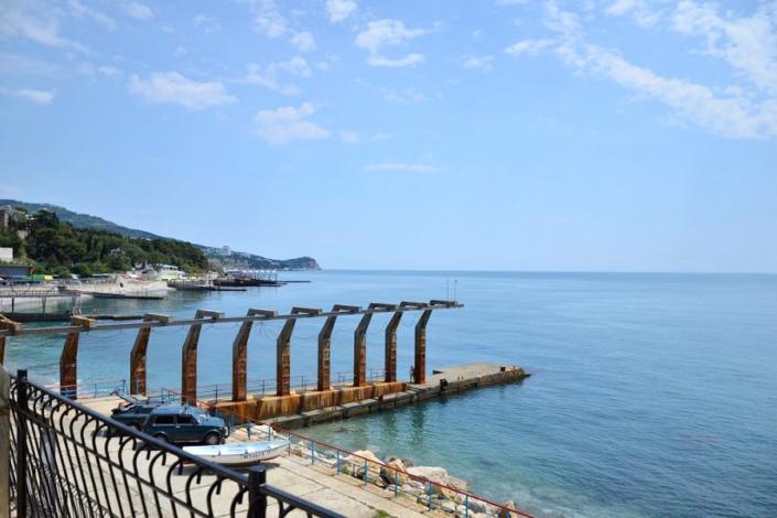 Вид на море с балкона Корпуса 1 санатория Ай-Петри