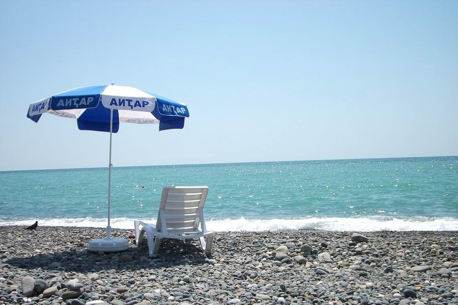 Пляж пансионата Айтар