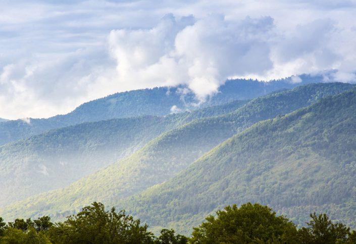 Вид на горы днем