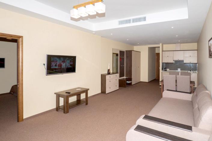 Люкс двухместный двухкомнатный с мини-кухней в Олимпийском корпусе парк-отеля Актер
