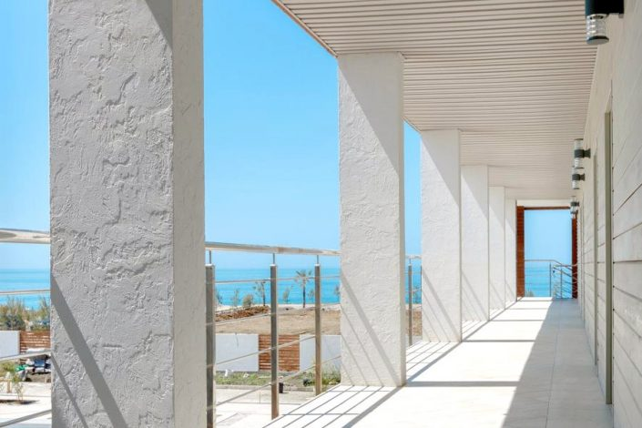 Вид на море с террасы отеля Аквамарин, Гагра, Абхазия