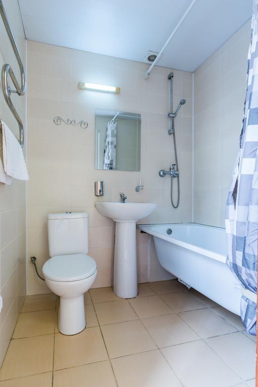 Туалетная комната в номере пансионата Аквамарин, Сочи, Хоста