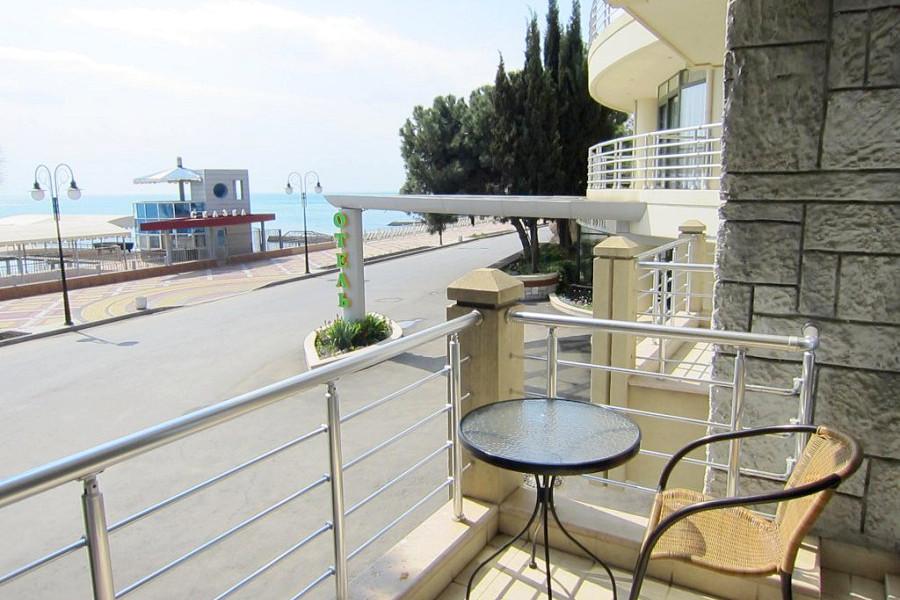 Балкон номера Комфорт отеля Аквапарк