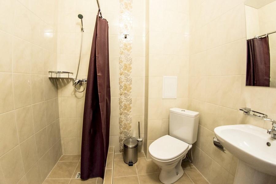 Туалетная комната номера Эконом в отеле Акварель Family