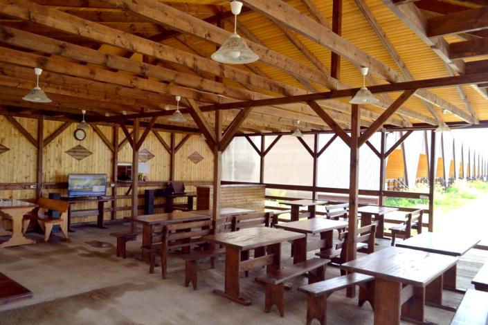 Столовая коттеджного комплекса Алашара, Алахадзы, Пицунда, Абхазия