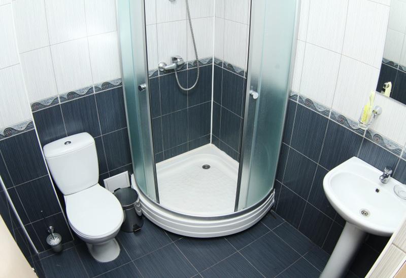 Туалетная комната номера Полулюкс отеля Амран, Гагра, Абхазия