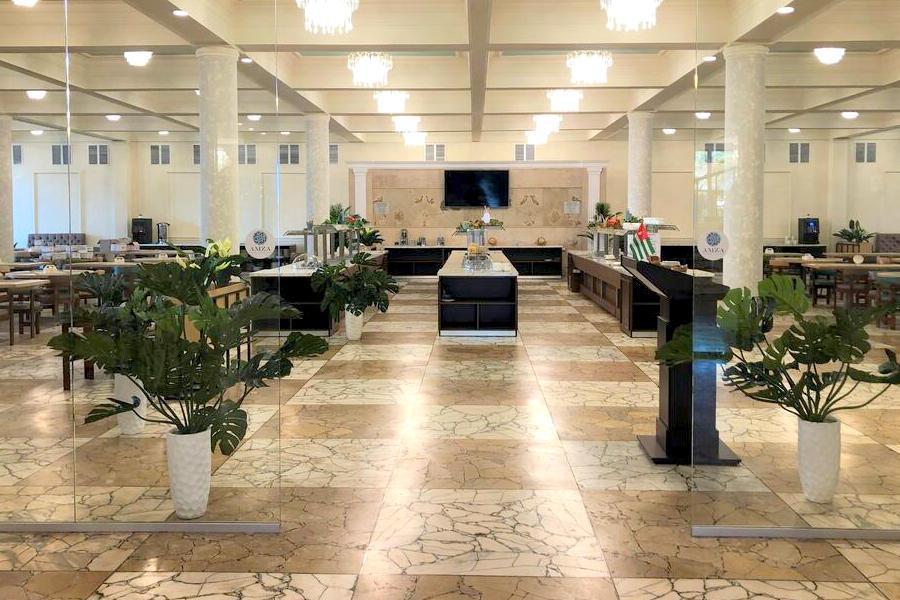Обеденный зал Amza Park Hotel