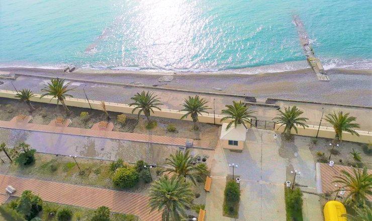 Вид на море из Корпуса № 1 Amza Park Hotel
