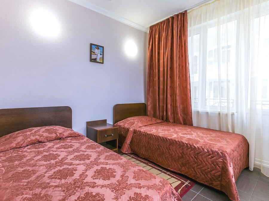 Стандартный номер в 3-этажных корпусах №№ 1, 2 отеля Анакопия Клаб, Абхазия, Новый Афон, Приморское