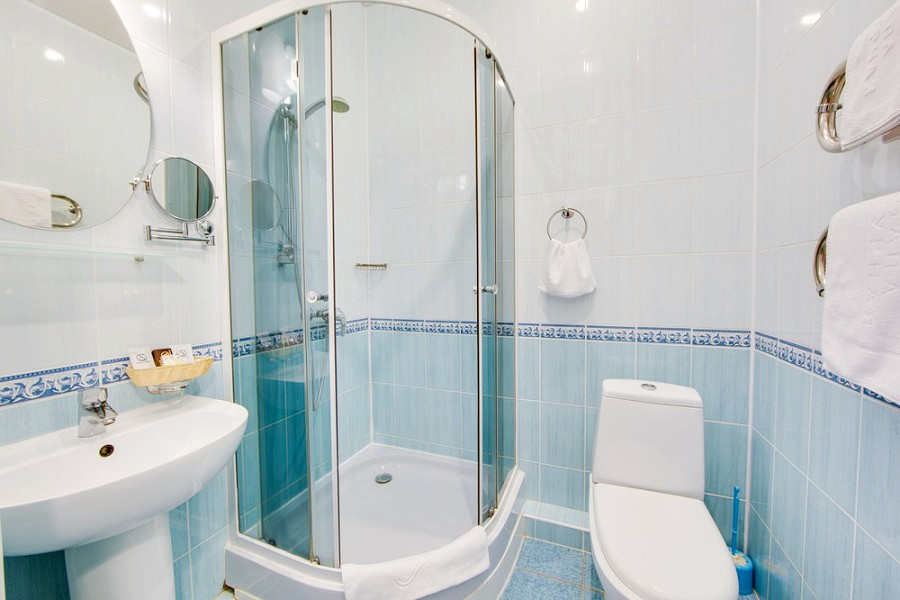 Туалетная комната Улучшенного номера в Главном корпусе пансионата Анапа-Лазурная