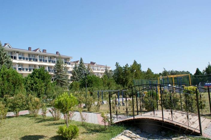 Территория санатория Анапа-Нептун