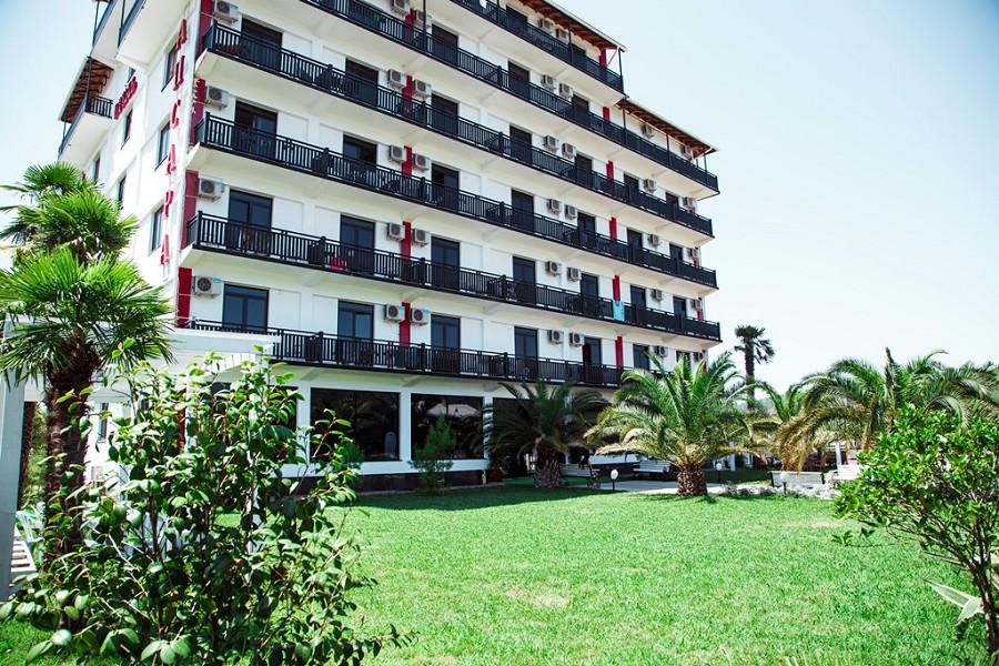 7-этажный корпус гостиницы Апсара, Пицунда, Лдзаа