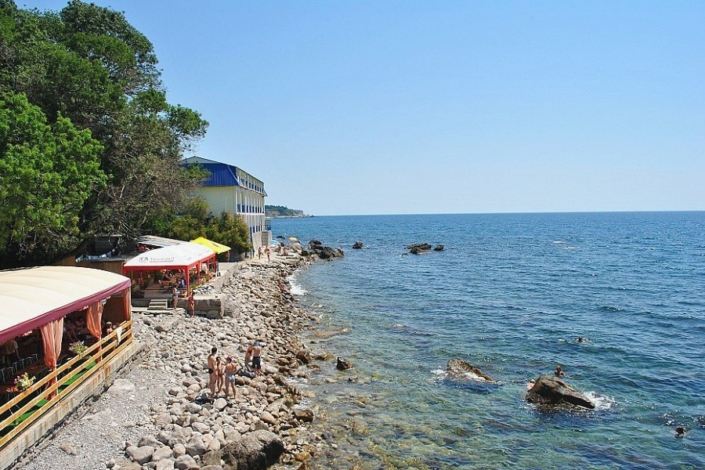 Пляж у Корпуса Море гостиницы Ассоль