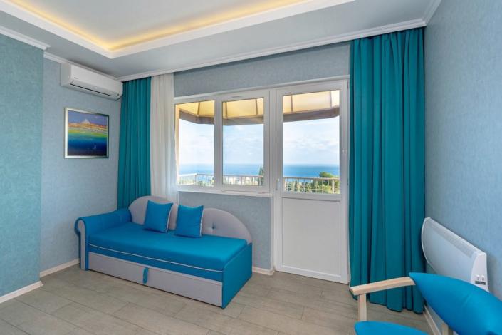 Стандарт двухместный с видом на море в отеле Атлантида