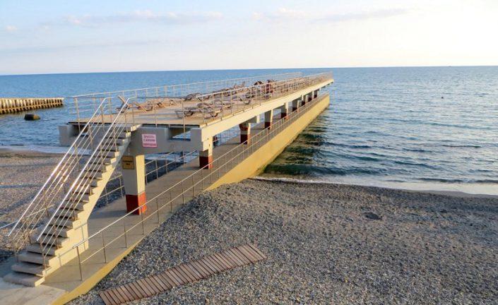 Аэрарий на пляже санатория Аврора, Сочи, Хоста