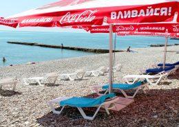 Пляж пансионата Автомобилист, Сочи