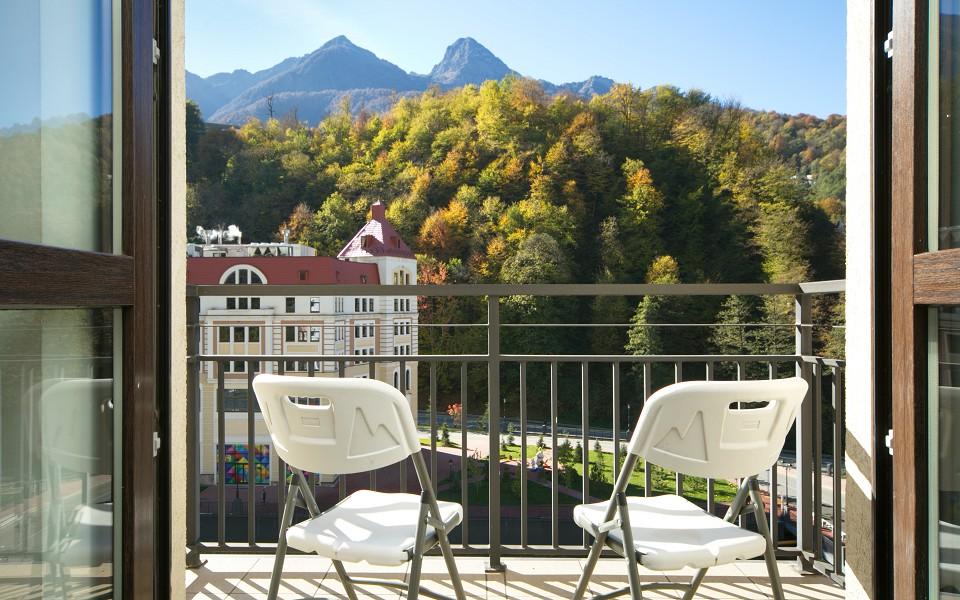 Балкон Стандартного номера Azimut Hotel Freestyle Rosa Khutor