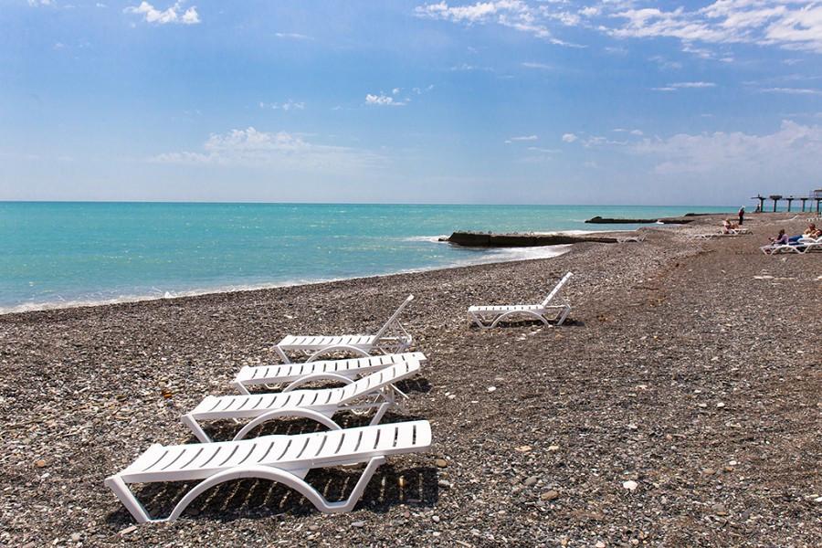 Пляж пансионата Багрипш