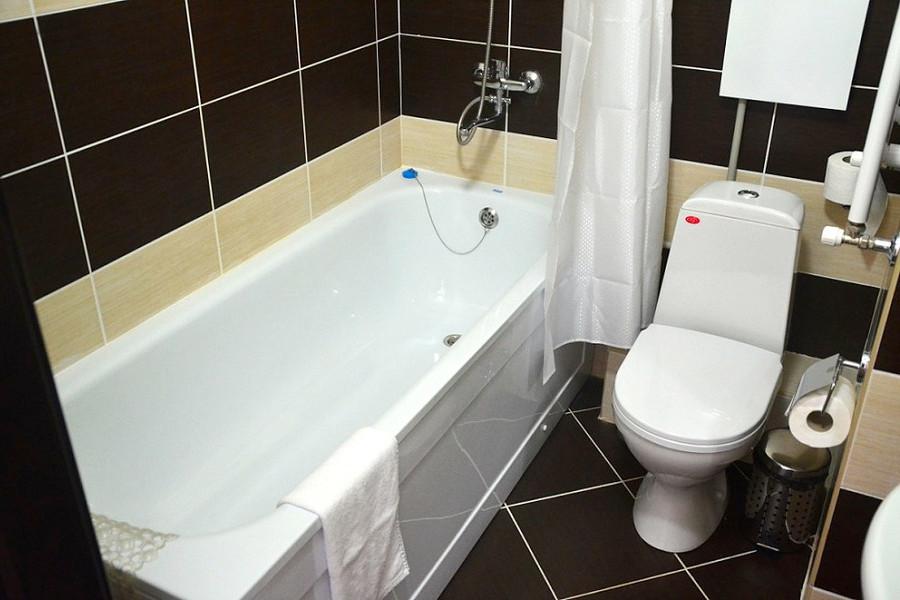 Туалетная комната номера Эконом отеля Бархатные Сезоны