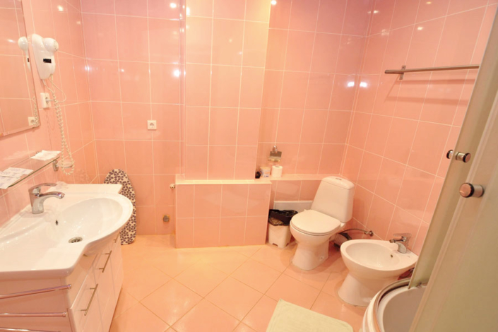 Туалетная комната номера Люкс в отеле Бавария