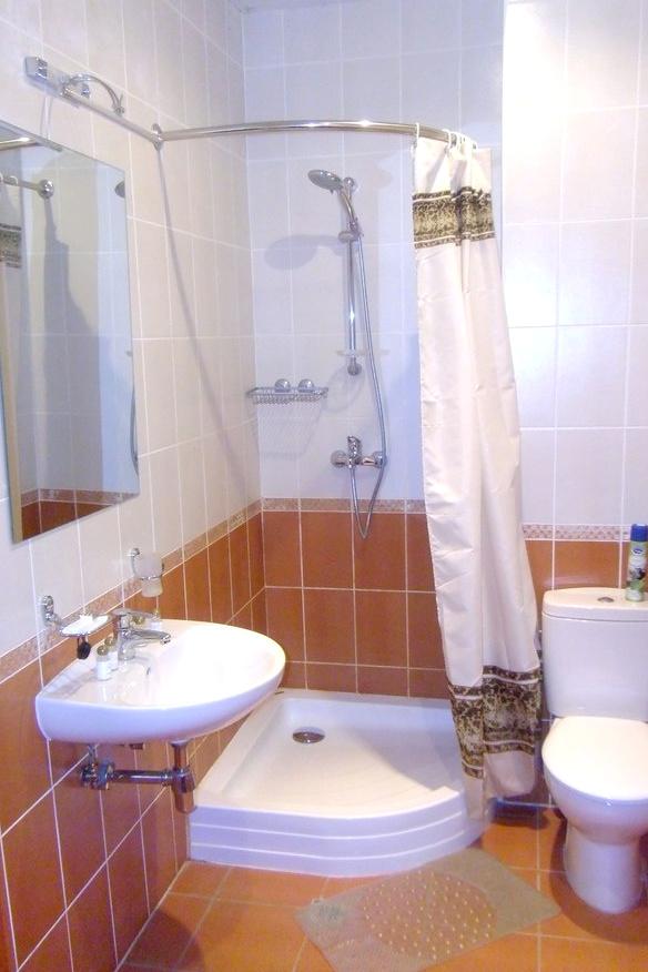 Туалетная комната Стандартного номера в Корпусе № 5 комплекса отдыха Беларусь