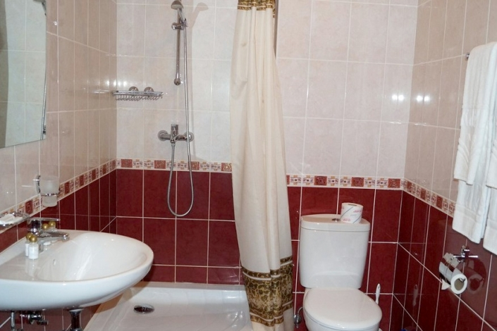Туалетная комната Стандартного номера ПК в Корпусе № 5 комплекса отдыха Беларусь