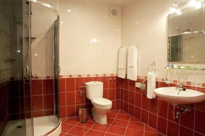 Туалетная комната номера Студия в Корпусе № 2 комплекса отдыха Беларусь
