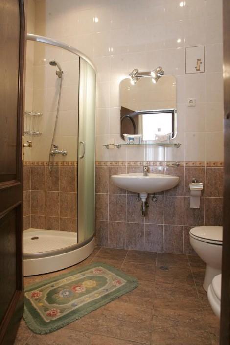 Туалетная комната Стандартного двухместного номера в Главном корпусе санатория Беларусь