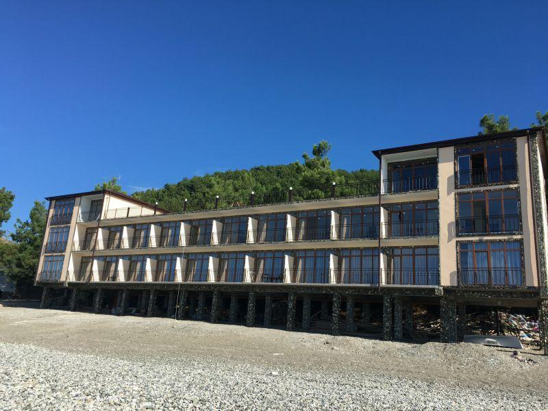 Гостиница Белые Скалы, новый корпус на пляже