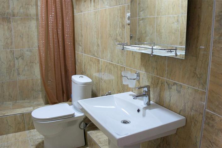 Туалетная комната номера Апартаменты в Корпусе 2 отеля Берег эвкалиптов