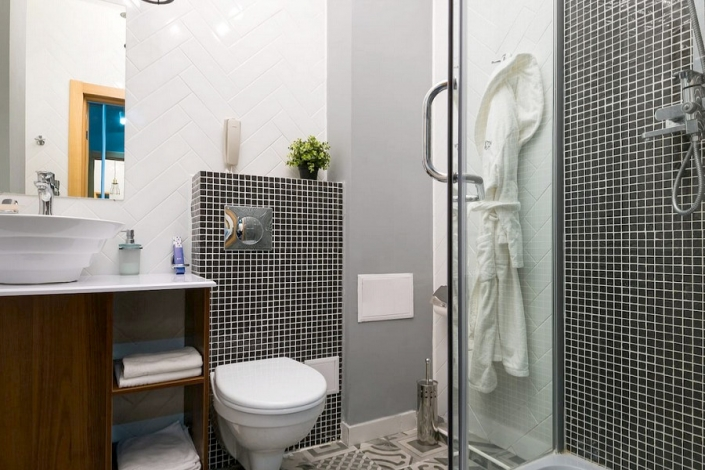 Туалетная комната номера Стандарт LV отеля Beton Brut