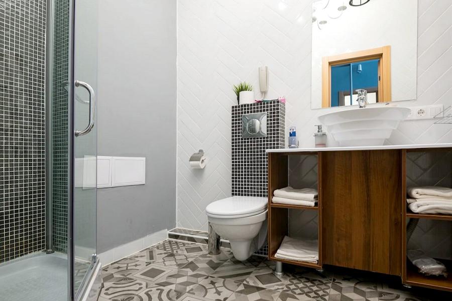 Туалетная комната номера Стандарт SSV отеля Beton Brut