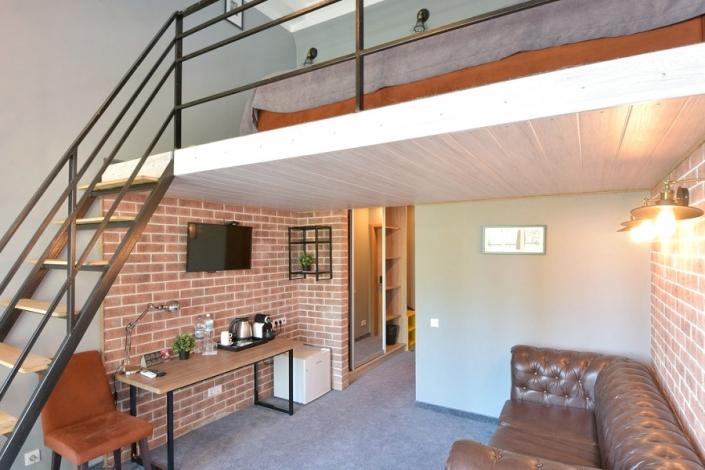 Делюкс Мини Duplex LV двухместный с террасой отеля Beton Brut