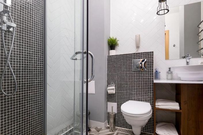 Туалетная комната номера Делюкс SV отеля Beton Brut