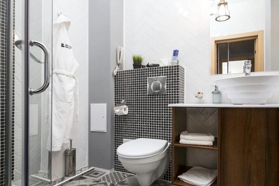Туалетная комната номера Делюкс Мини Duplex LV отеля Beton Brut