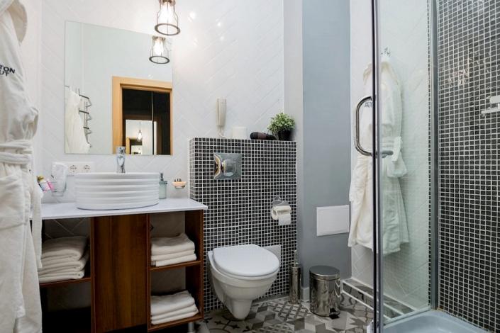 Туалетная комната номера Стандарт Panoramic отеля Beton Brut
