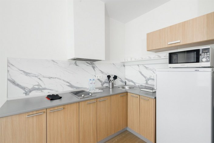 Кухня трехкомнатного апартамента апарт-теля Бревис