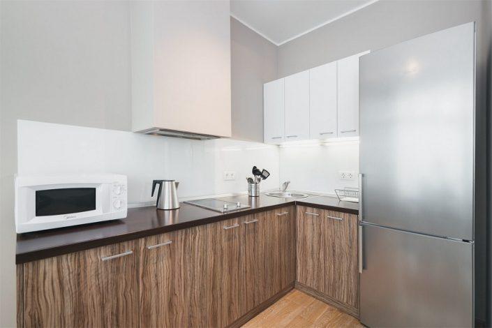 Кухня четырехкомнатного апартамента апарт-теля Бревис