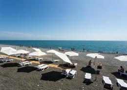 Пляж Имеретинского курорта в Сочи