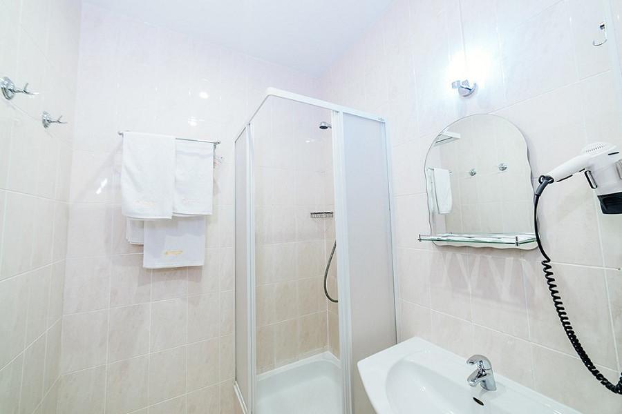 Туалетная комната номера Стандарт в отеле Бристоль