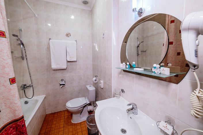 Туалетная комната номера Супериор в отеле Бристоль