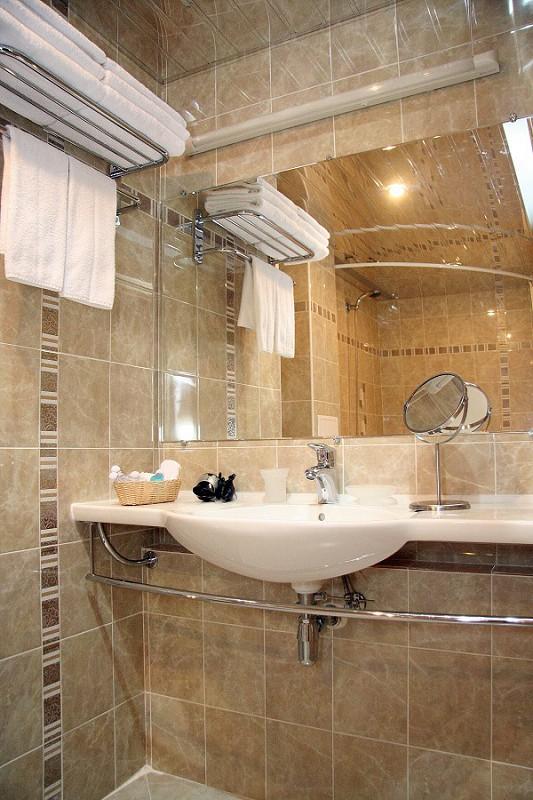 Туалетная комната номера Студия в Корпусе №1 пансионата Бургас