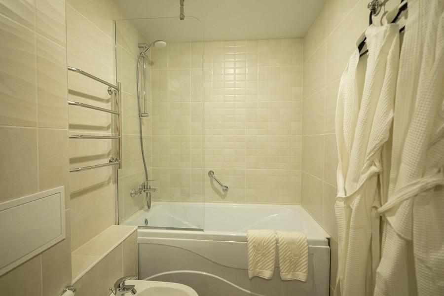 Туалетная комната номера Студия в Корпусе №2 пансионата Бургас