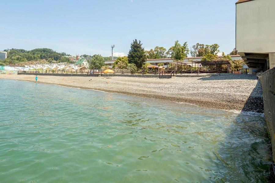 Пляж пансионата Бургас