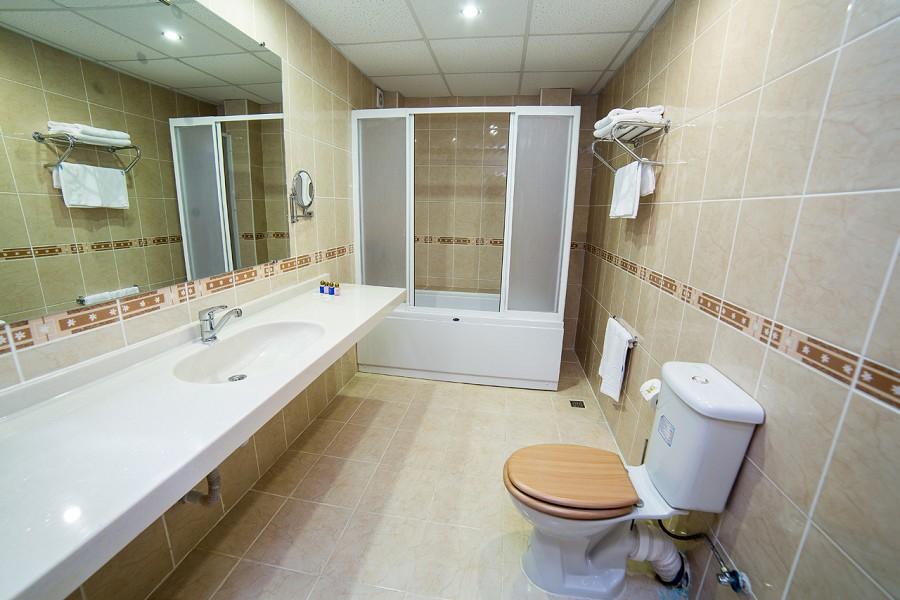 Туалетная комната номера Люкс в отеле Царская аллея, Новый Афон, Абхазия