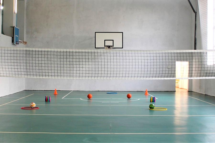 Спортивный зал санатория Чайка