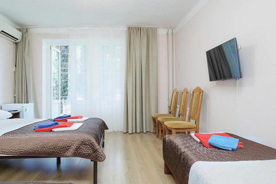 Улучшенный 3-х местный 2-х комнатный санатория им. Челюскинцев, Гагра, Абхазия