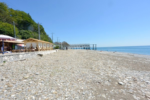 Пляж санатория Чемитоквадже МО РФ, Сочи
